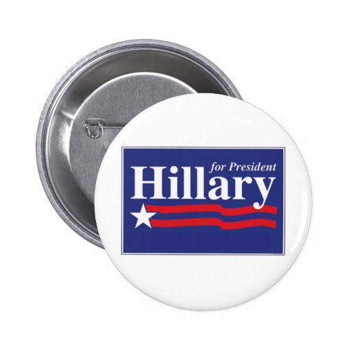 Hillary Clinton para el Pin del presidente 2016 bo Pin Redondo 5 Cm
