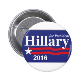Hillary Clinton para el Pin del presidente 2016 bo