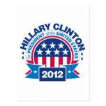 Hillary Clinton para el presidente 2012 Postal