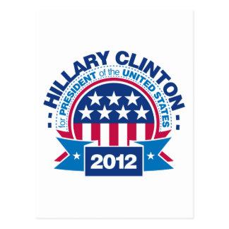 Hillary Clinton para el presidente 2012 Postales