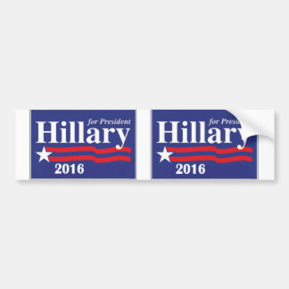 Hillary Clinton para el presidente 2016 - 2 en 1 Pegatina Para Auto