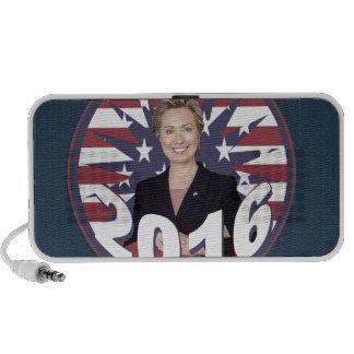 Hillary Clinton para el presidente 2016 Altavoz