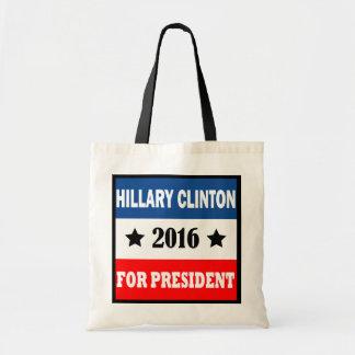 Hillary Clinton para el presidente 2016 Bolsa Tela Barata