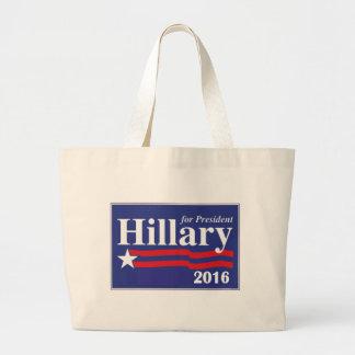 Hillary Clinton para el presidente 2016 Bolsa Tela Grande