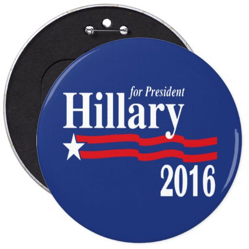 Hillary Clinton para el presidente 2016 botón (XXL Pins