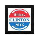 Hillary Clinton para el presidente 2016 Cajas De Recuerdo