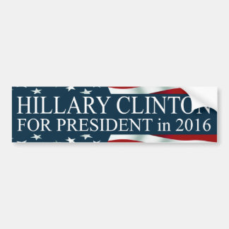 Hillary Clinton para el presidente 2016 Pegatina Para Coche