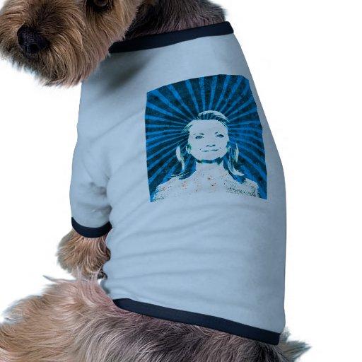 Hillary Clinton para el presidente 2016 Camiseta Con Mangas Para Perro