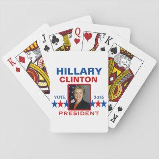 Hillary Clinton para el presidente 2016 Cartas De Póquer