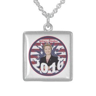 Hillary Clinton para el presidente 2016 Colgante Cuadrado