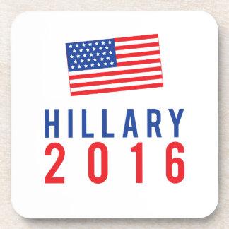Hillary Clinton para el presidente 2016 con la Posavasos
