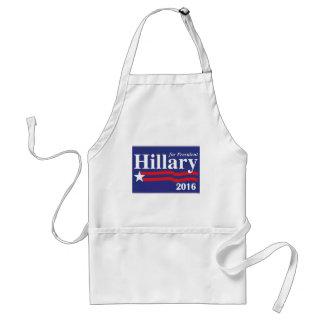 Hillary Clinton para el presidente 2016 Delantal