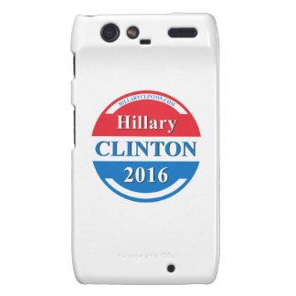 Hillary Clinton para el presidente 2016 Motorola Droid RAZR Carcasas