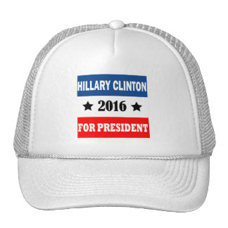Hillary Clinton para el presidente 2016 Gorro De Camionero