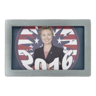 Hillary Clinton para el presidente 2016 Hebilla De Cinturon Rectangular