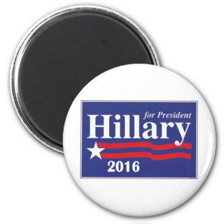 Hillary Clinton para el presidente 2016 Imán Redondo 5 Cm