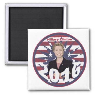 Hillary Clinton para el presidente 2016 Imán Cuadrado