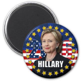 Hillary Clinton para el presidente 2016 imanes Imán Redondo 5 Cm
