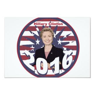 """Hillary Clinton para el presidente 2016 Invitación 3.5"""" X 5"""""""