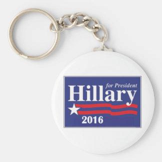 Hillary Clinton para el presidente 2016 Llaveros Personalizados