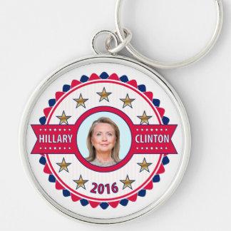 Hillary Clinton para el presidente 2016 Llavero Redondo Plateado