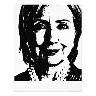 Hillary Clinton para el presidente 2016 Membretes Personalizados
