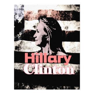 Hillary Clinton para el presidente 2016 Membrete A Diseño