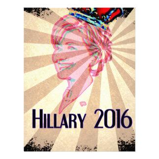 Hillary Clinton para el presidente 2016 Plantillas De Membrete