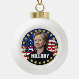 Hillary Clinton para el presidente 2016 ornamento Adorno De Cerámica En Forma De Bola