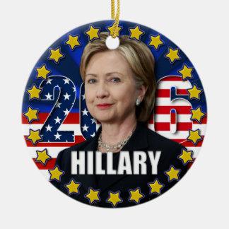 Hillary Clinton para el presidente 2016 ornamento Adorno Navideño Redondo De Cerámica