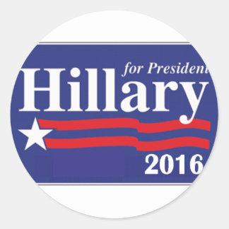 Hillary Clinton para el presidente 2016 Etiquetas Redondas
