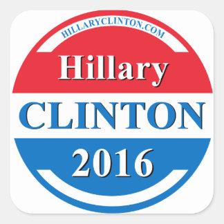 Hillary Clinton para el presidente 2016 Colcomanias Cuadradass