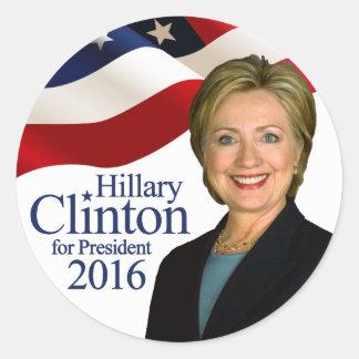 Hillary Clinton para el presidente 2016 pegatinas Pegatina Redonda