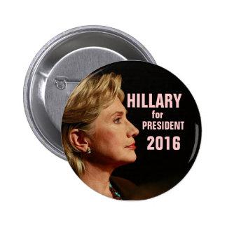 Hillary Clinton para el presidente 2016 Pin Redondo 5 Cm