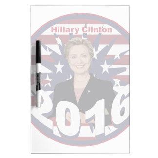Hillary Clinton para el presidente 2016 Pizarras Blancas