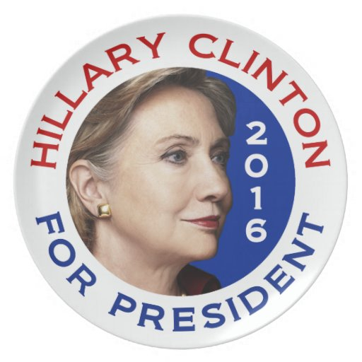 Hillary Clinton para el presidente 2016 Plato