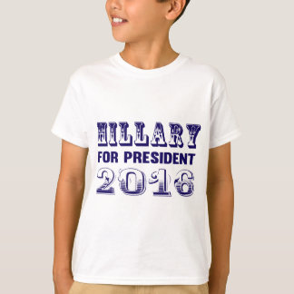 Hillary Clinton para el presidente 2016 Playera
