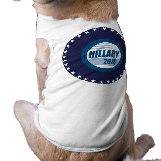 HILLARY CLINTON PARA EL PRESIDENTE 2016 PLAYERA SIN MANGAS PARA PERRO