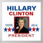 Hillary Clinton para el presidente 2016 Póster