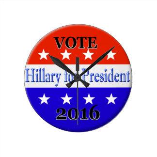 HILLARY CLINTON PARA EL PRESIDENTE 2016 RELOJES
