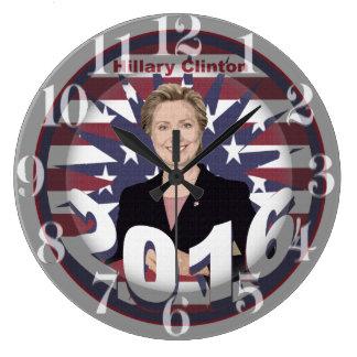 Hillary Clinton para el presidente 2016 Reloj Redondo Grande