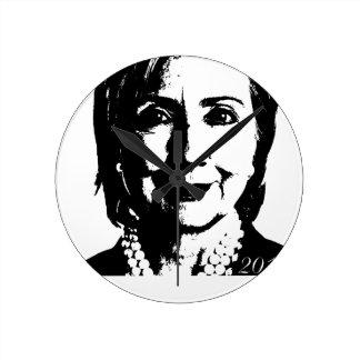 Hillary Clinton para el presidente 2016 Reloj De Pared