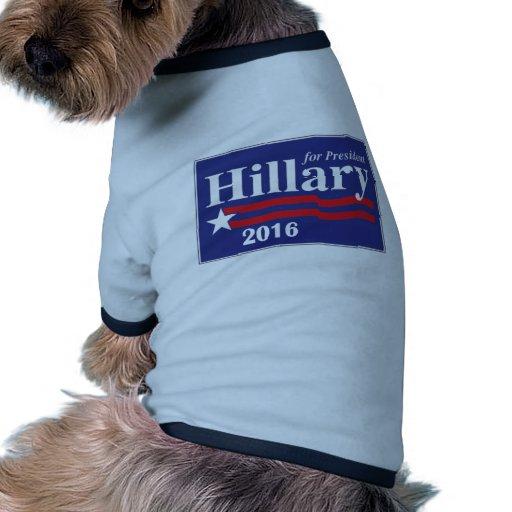 Hillary Clinton para el presidente 2016 Camisas De Perritos