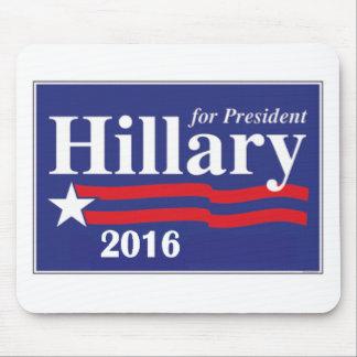 Hillary Clinton para el presidente 2016 Tapetes De Ratón