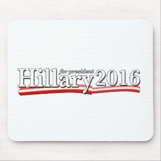 Hillary Clinton para el presidente 2016 Tapetes De Ratones