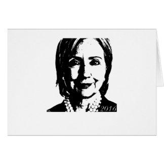 Hillary Clinton para el presidente 2016 Felicitaciones