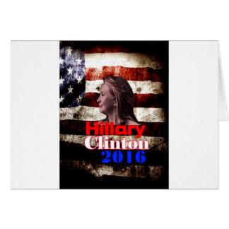 Hillary Clinton para el presidente 2016 Felicitacion