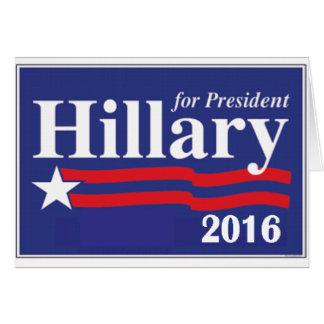 Hillary Clinton para el presidente 2016 Tarjeta De Felicitación