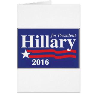 Hillary Clinton para el presidente 2016 Tarjetas