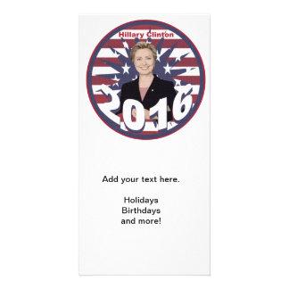 Hillary Clinton para el presidente 2016 Plantilla Para Tarjeta De Foto